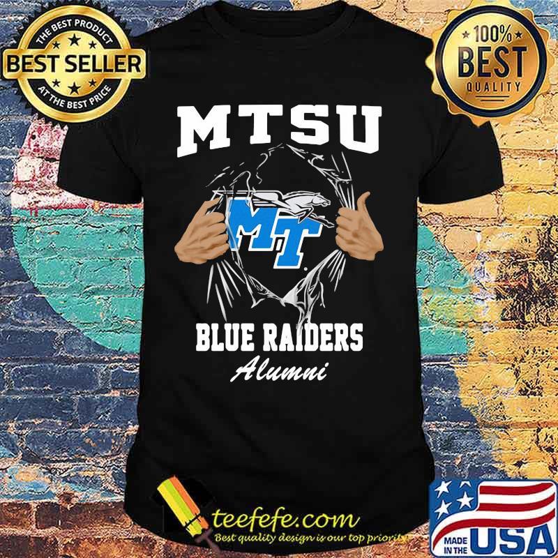 Blood inside mtsu blue raiders alumni shirt