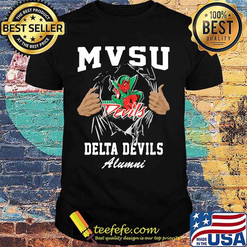 Blood inside mvsu delta devils alumni shirt