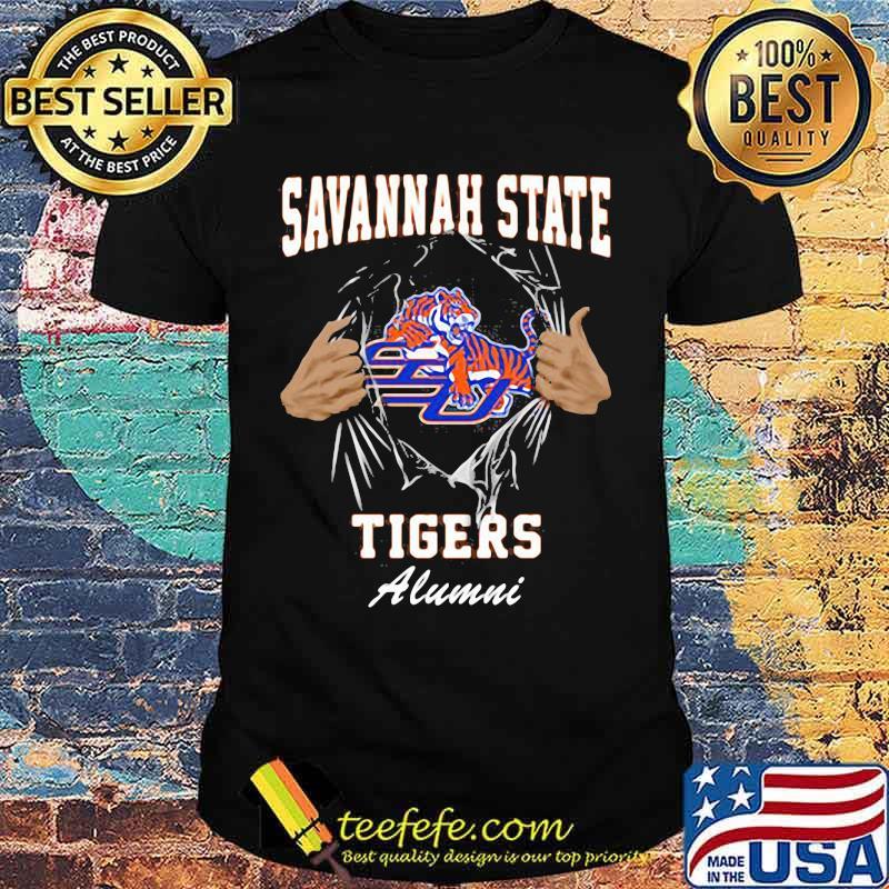 Blood inside savannah state tigers alumni shirt