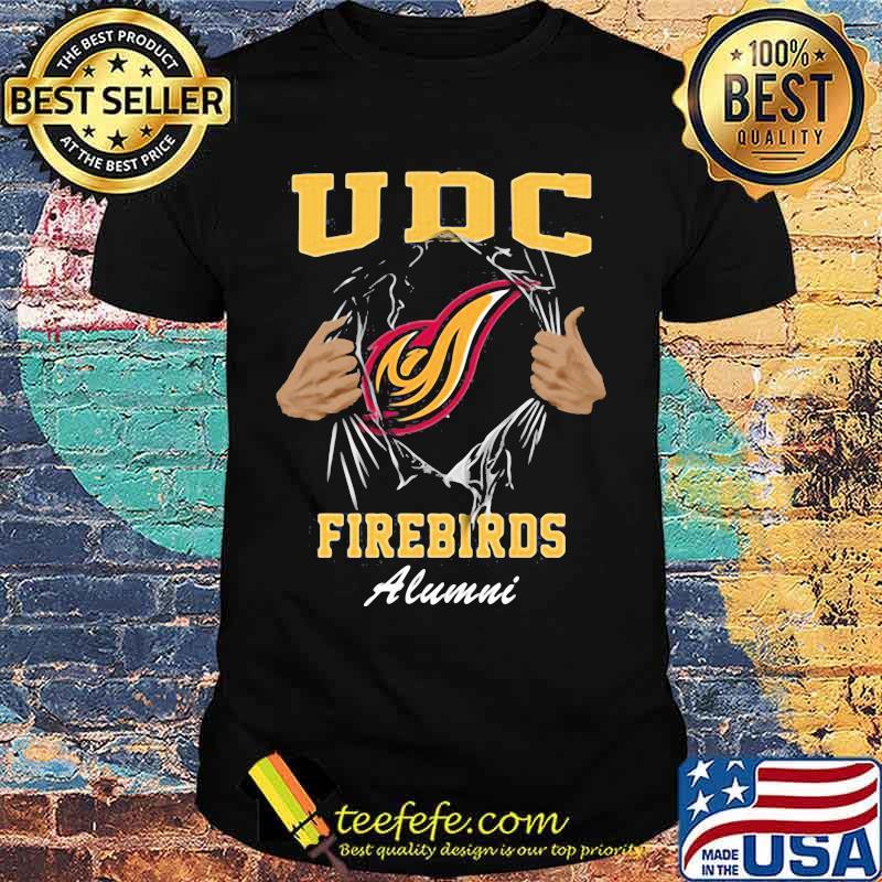 Blood inside udc firebirds alumni shirt