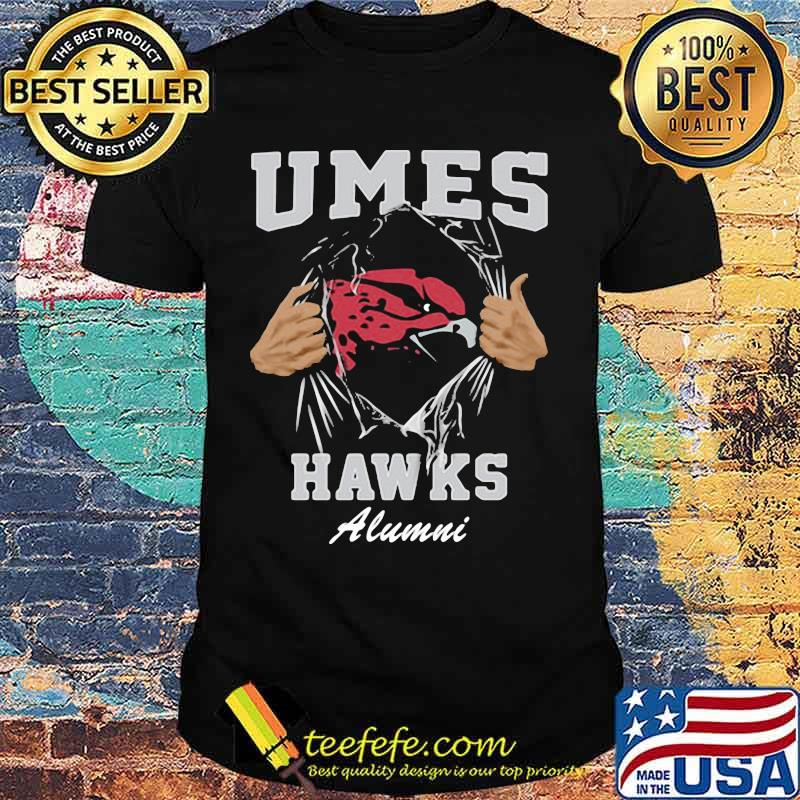 Blood inside umes hawks alumni shirt