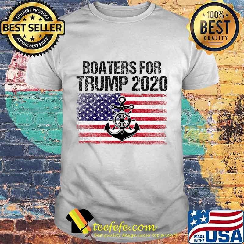 Boaters For Trump US Flag Re Elect President Trump 2020 Gift T-Shirt