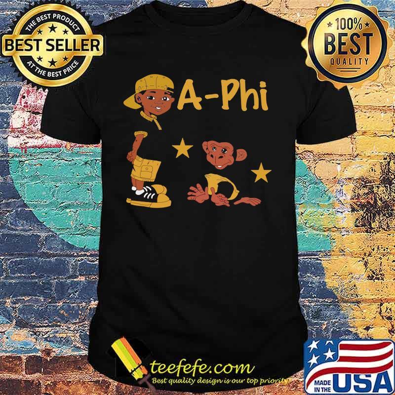 Boy and monkey stars alpha phi alpha shirt