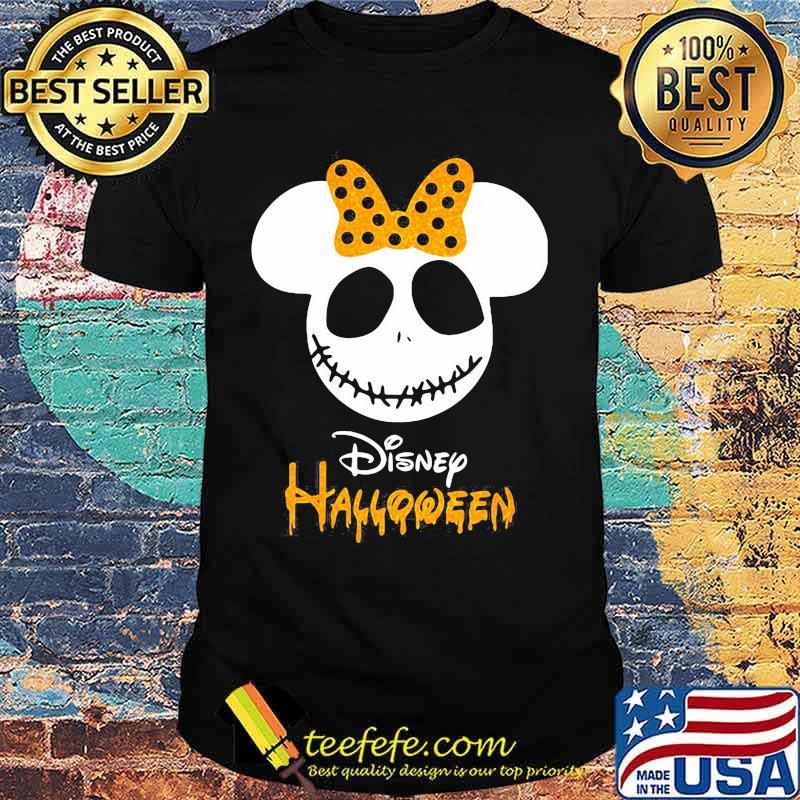 Disney halloween minnie mouse jack skellington shirt