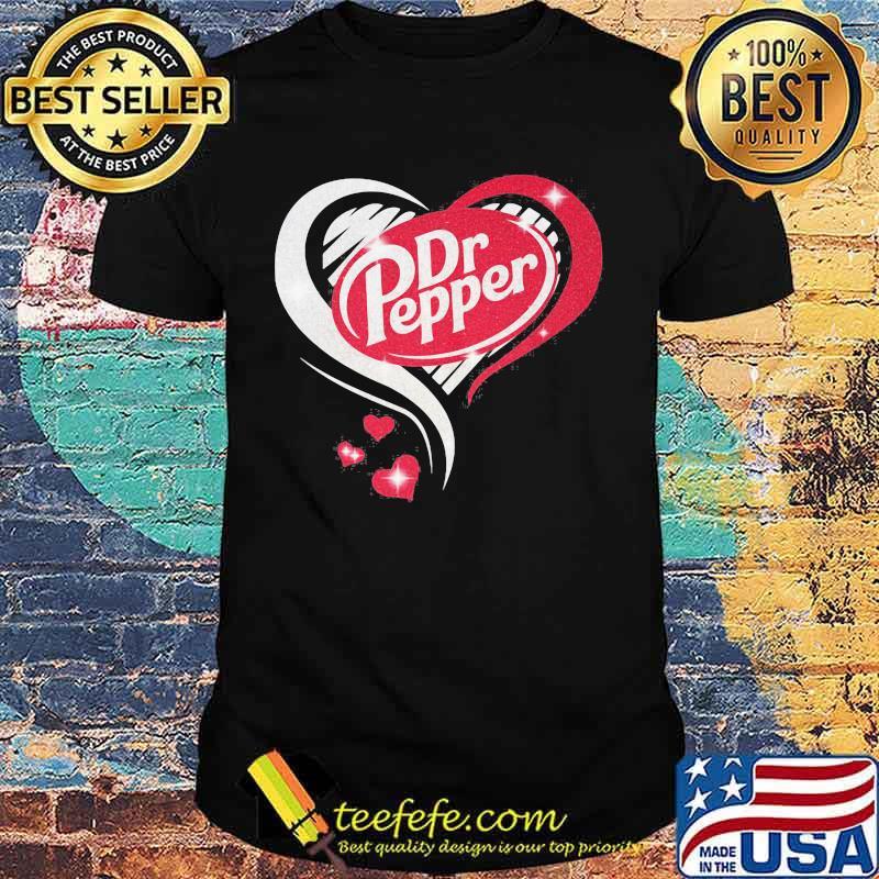 Dr pepper logo hearts diamond shirt