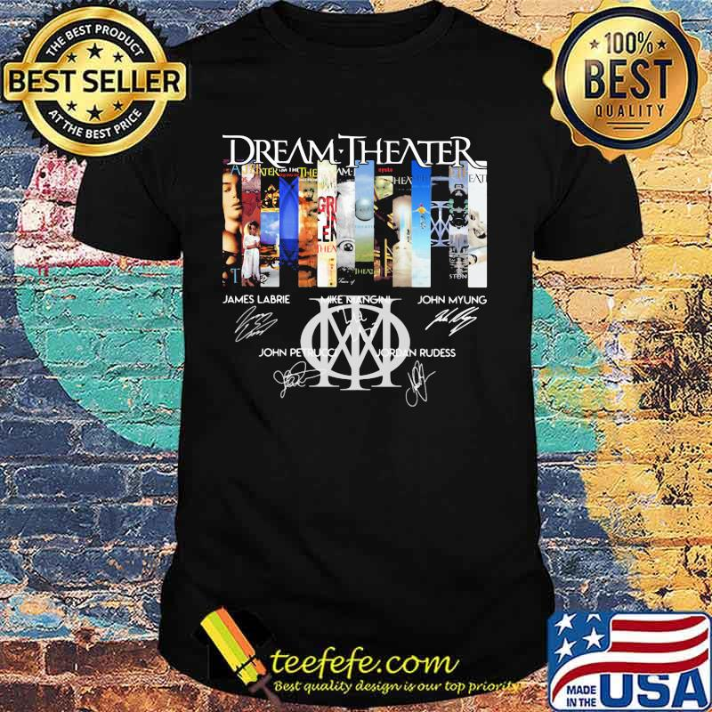 Dream theater movie poster signatures shirt
