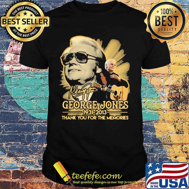 George jones 1931 2013 thank for the memories signature shirt