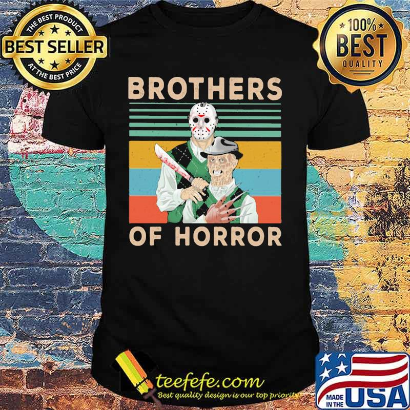 Halloween jason voorhees freddy krueger brothers of horror vintage retro shirt