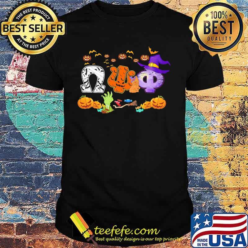 Halloween omega psi phi witch pumpkins shirt