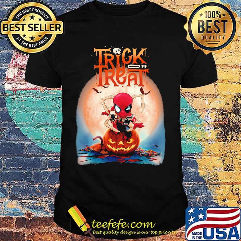 Halloween spiderman trick or treat pumpkins shirt