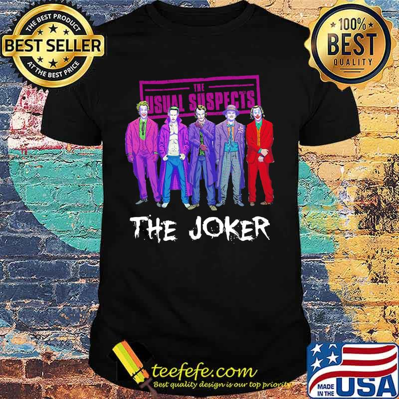 Halloween the usual suspects the joker characters shirt