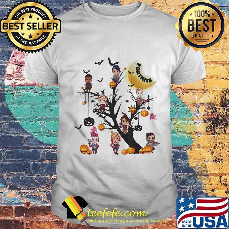 Happy halloween tree fortnite characters shirt