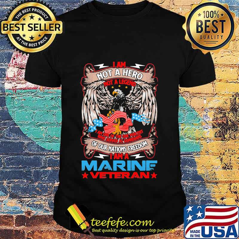 I Am Not A Hero Not A Legend I Am The One Percent I Am A Veteran Vets American Flag Shirt