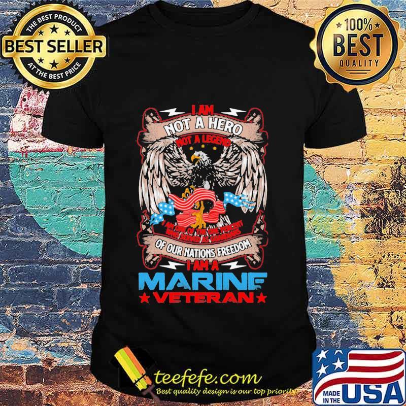 I Am Not A Hero Not A Legend I Am The One Percent I Am A Veteran Vets American Flag Shirt