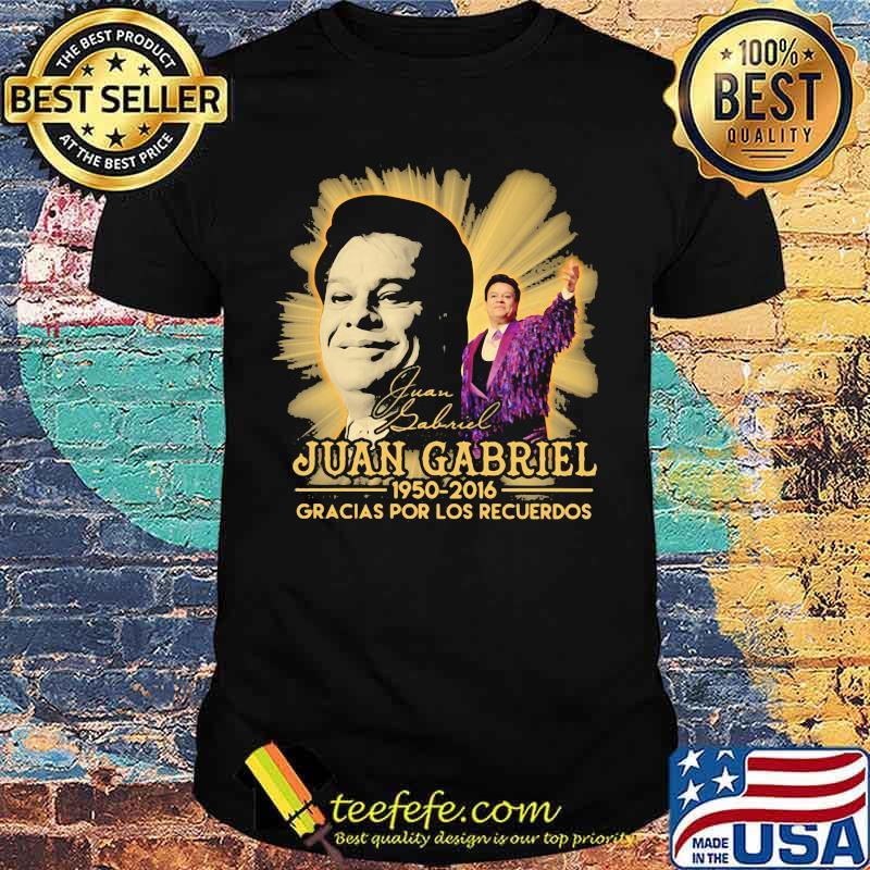Juan gabriel 1950 2016 gracias por los recuerdos signature shirt