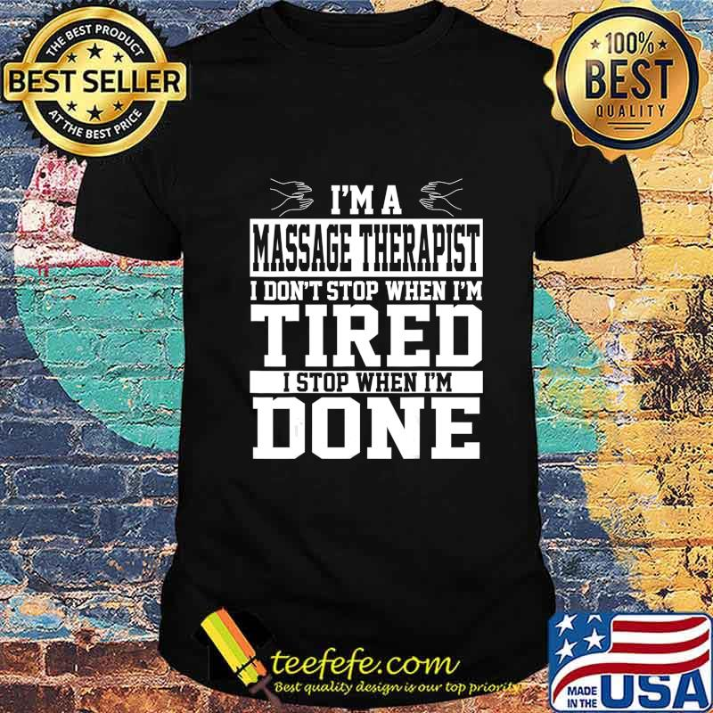 Massage Therapist Apparel Funny Best Gifts For Therapists T-Shirt