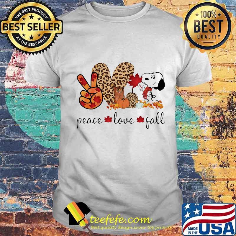 Snoopy peace love fall leopard shirt