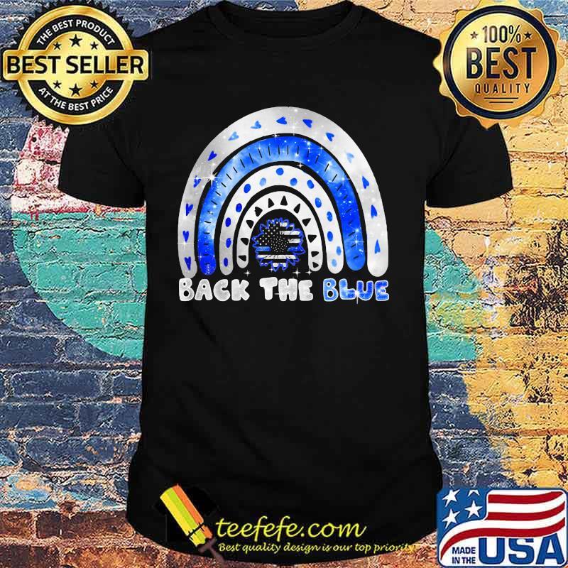 Sunflower back the blue american flag shirt