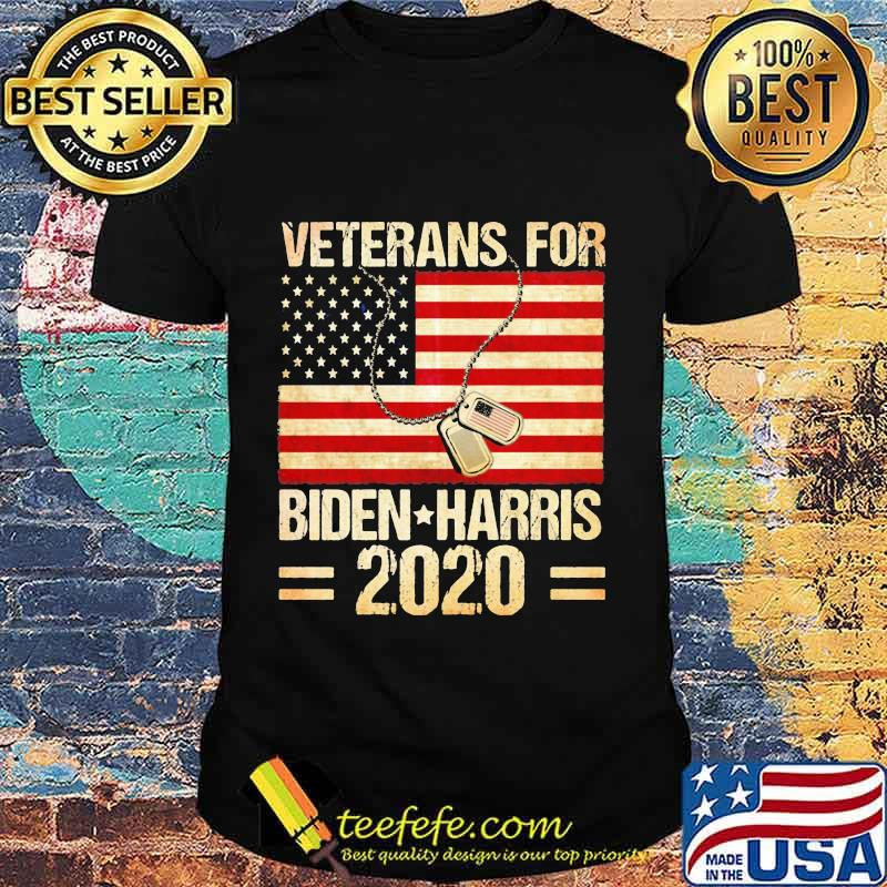 Veterans For Biden Harris 2020 American Flag Independence Day Shirt