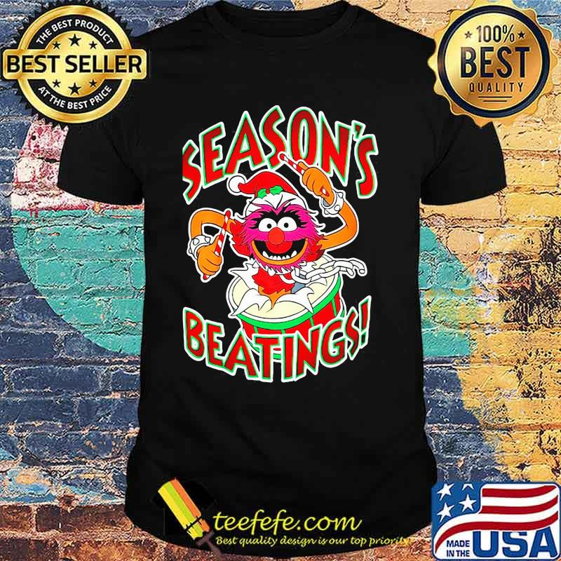 The muppets drummer season's beatings shirt