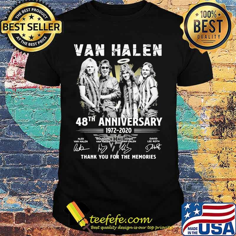 Van halen 48th anniversary 1972 2020 thank for the memories signatures shirt