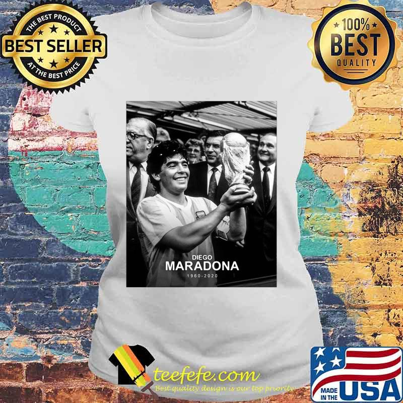 Diego Maradona 1960 2020 Legend Argentina World Cup N10 Shirt Laides tee