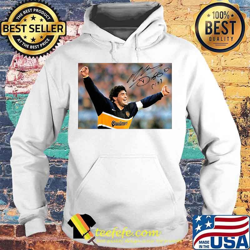 Diego Maradona Argentina Soccer Legend Signature Shirt Hoodie