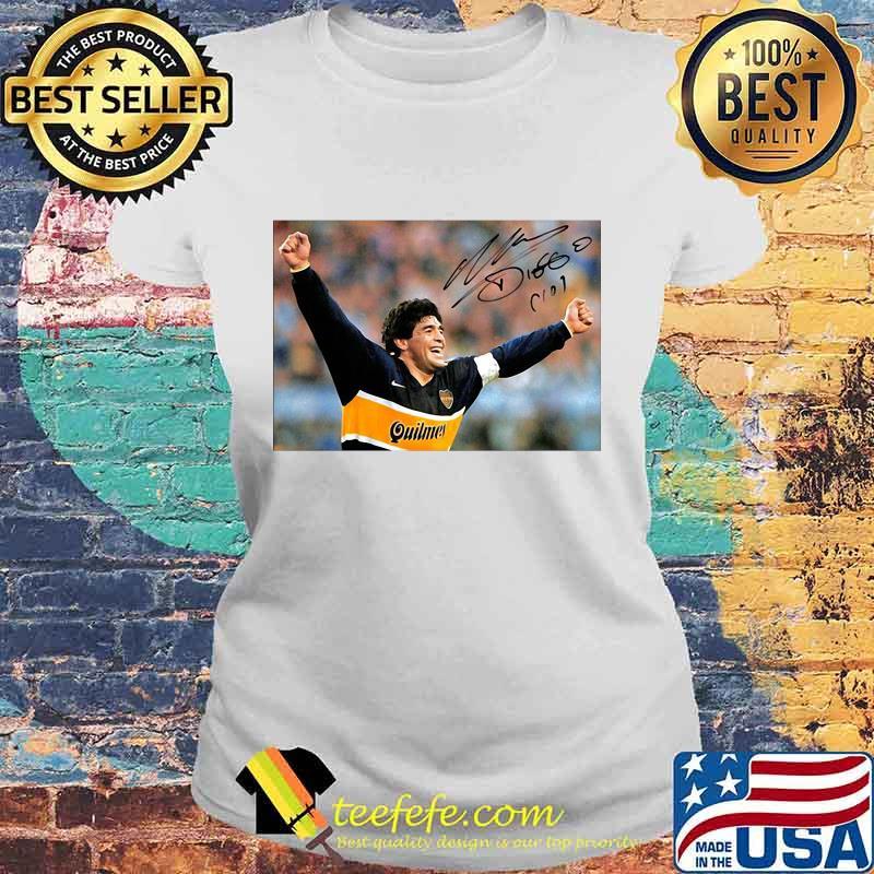 Diego Maradona Argentina Soccer Legend Signature Shirt Laides tee