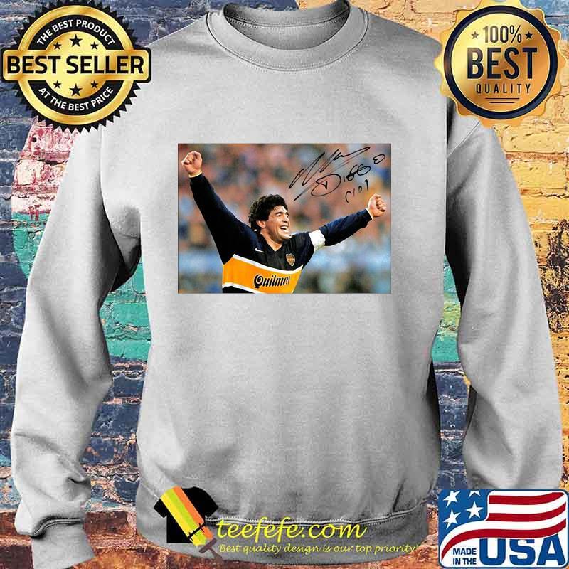 Diego Maradona Argentina Soccer Legend Signature Shirt Sweater