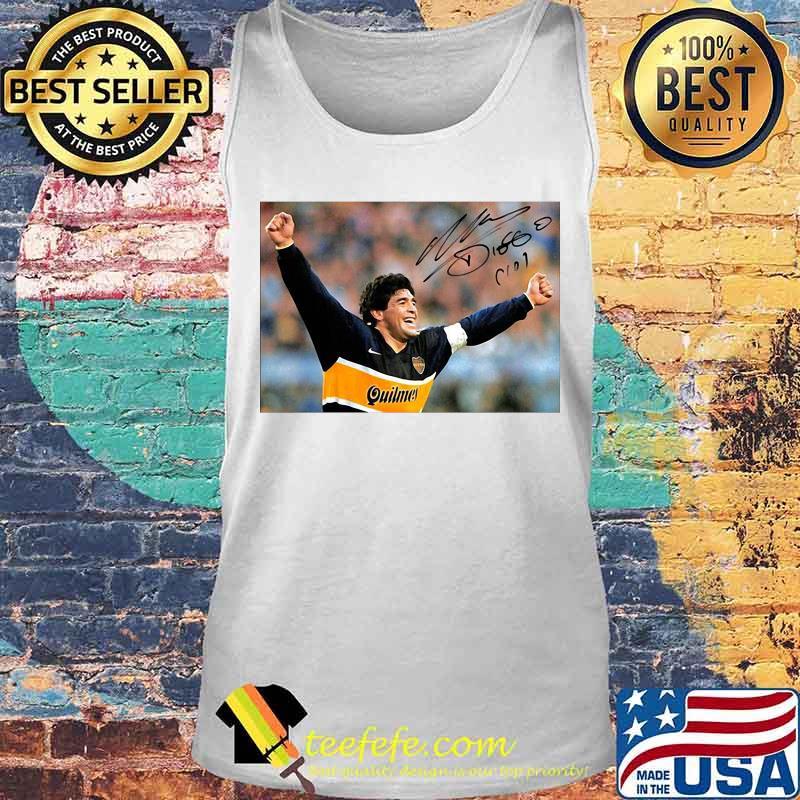 Diego Maradona Argentina Soccer Legend Signature Shirt Tank top