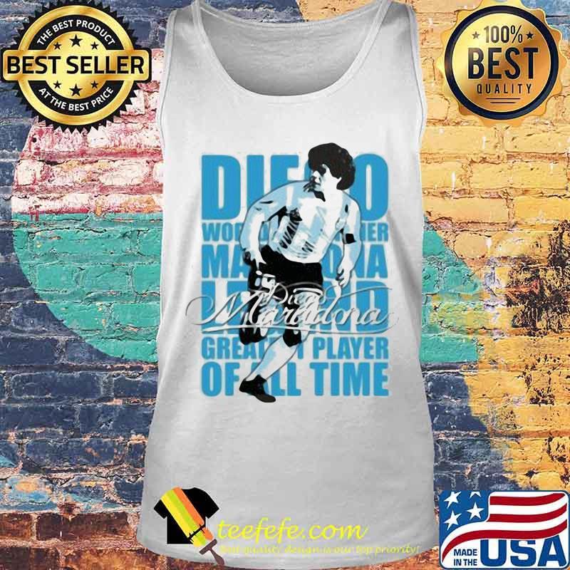 Diego Maradona Legend Greatest Player Of All Time Legend Genius Football Shirt Tank top