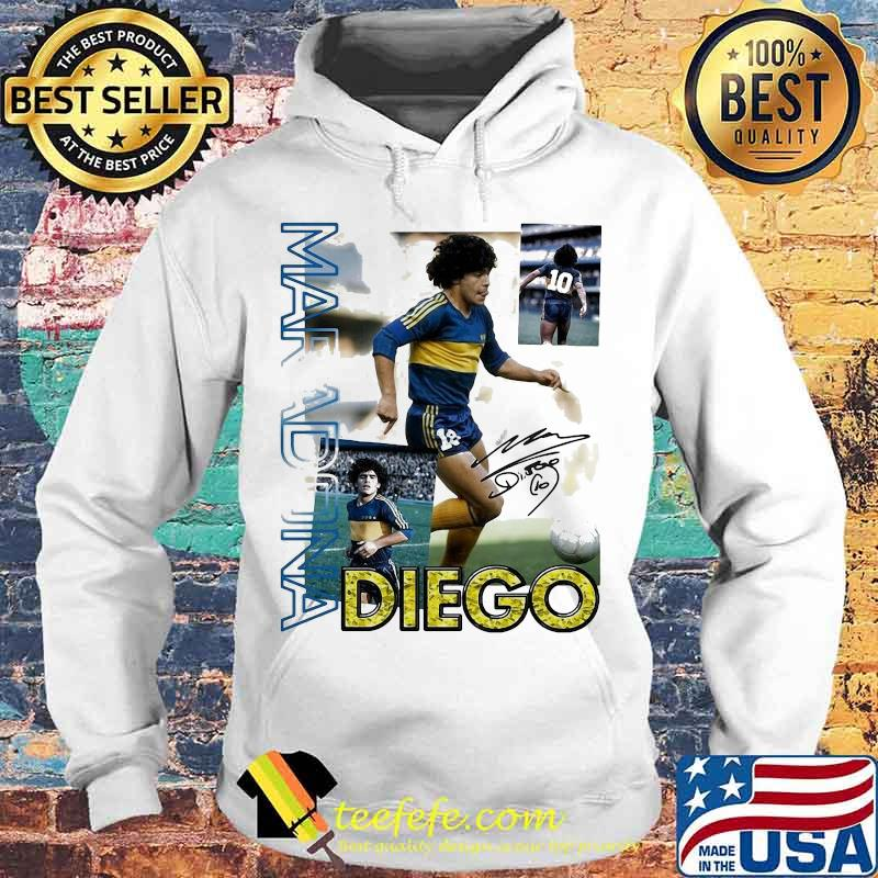 Diego Maradona Ten Football Signature Shirt Hoodie