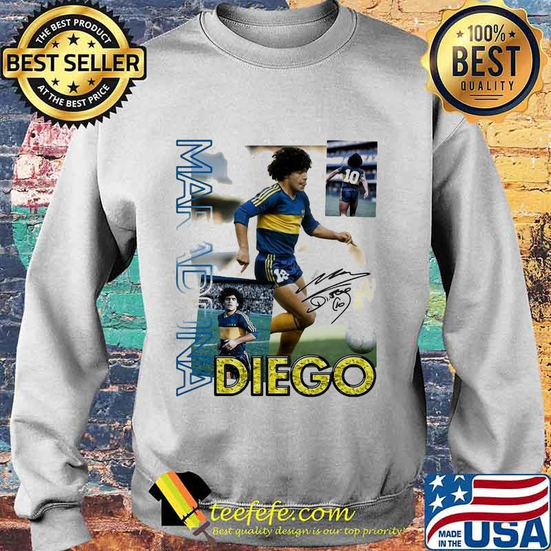 Diego Maradona Ten Football Signature Shirt Sweater