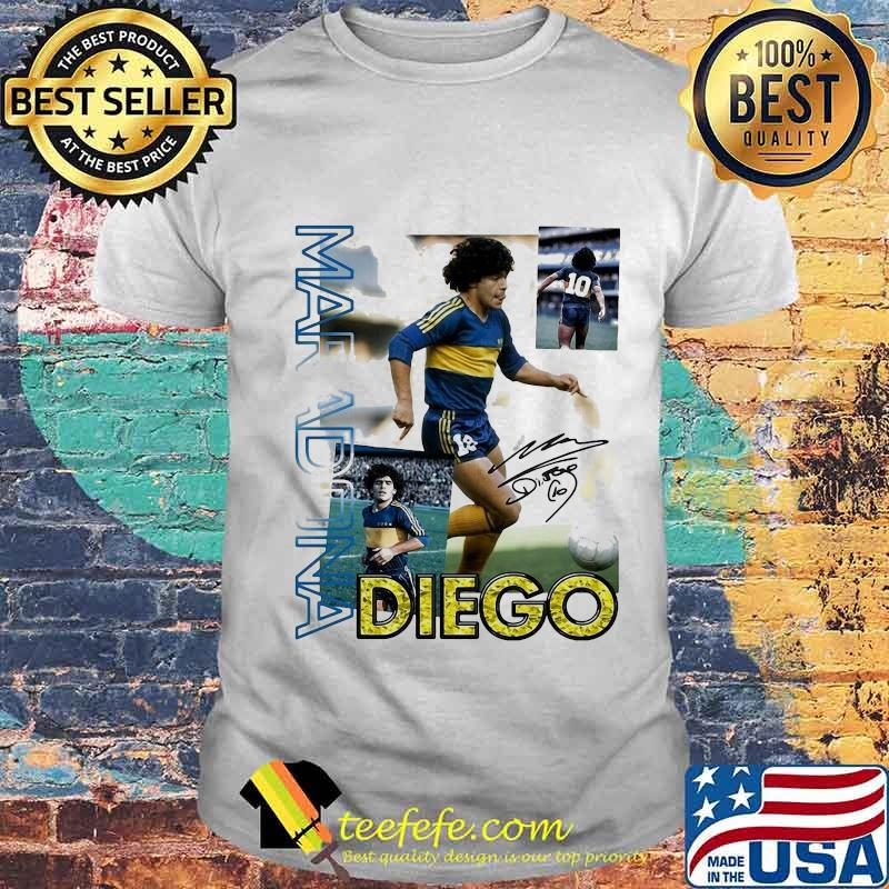 Diego Maradona Ten Football Signature Shirt