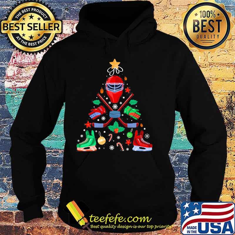 Ice Hockey Christmas Ornament Tree Xmas Boys Shirt Hoodie