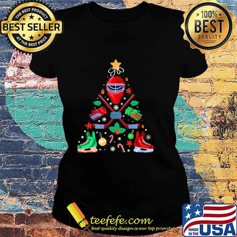 Ice Hockey Christmas Ornament Tree Xmas Boys Shirt Ladies tee