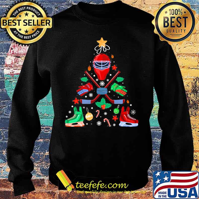 Ice Hockey Christmas Ornament Tree Xmas Boys Shirt Sweater