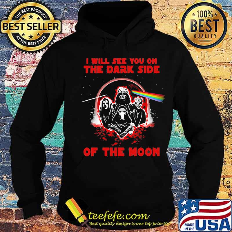 I'll See You On The Dark Side Of The Moon Skull Raibow Pink Floyd Lgbt Shirt Hoodie