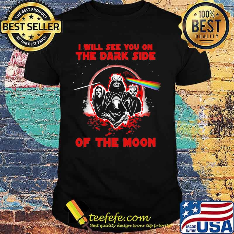 I'll See You On The Dark Side Of The Moon Skull Raibow Pink Floyd Lgbt Shirt