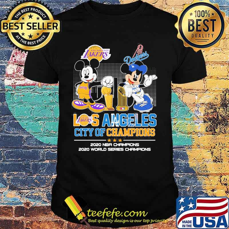 Los Angeles City Of Champions 2020 Nba World Series Mickey Dodgers Shirt