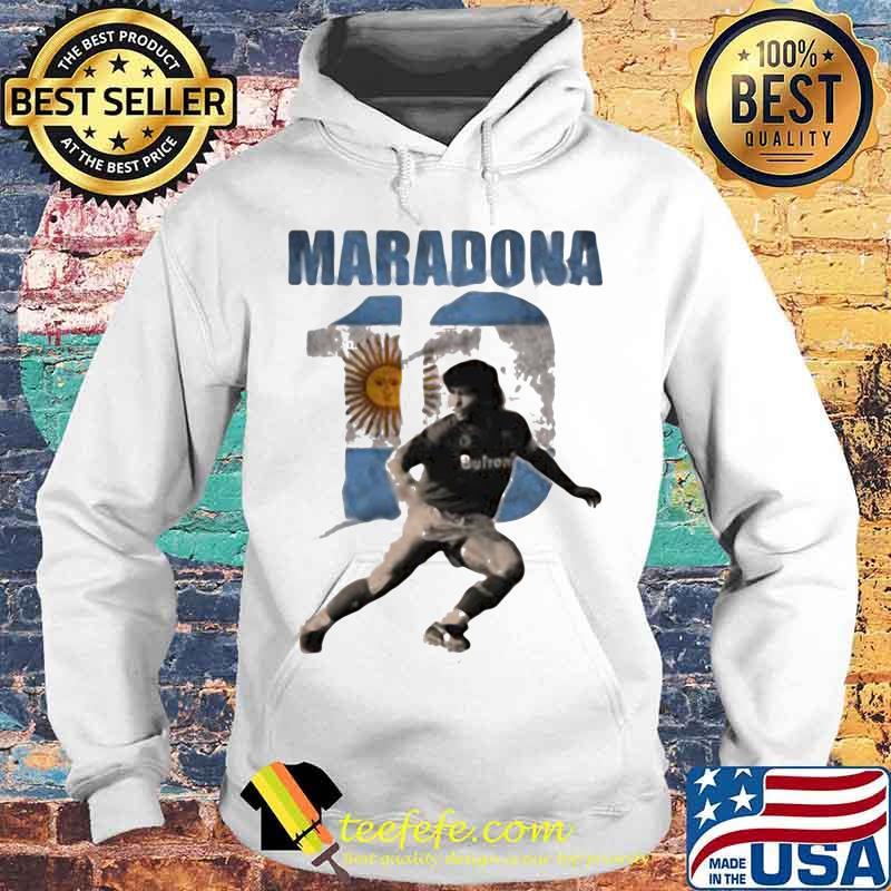 Maradona Legend Argentina Tee World Cup N10 Sun Shirt Hoodie