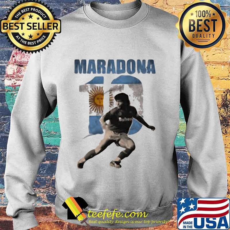 Maradona Legend Argentina Tee World Cup N10 Sun Shirt Sweater