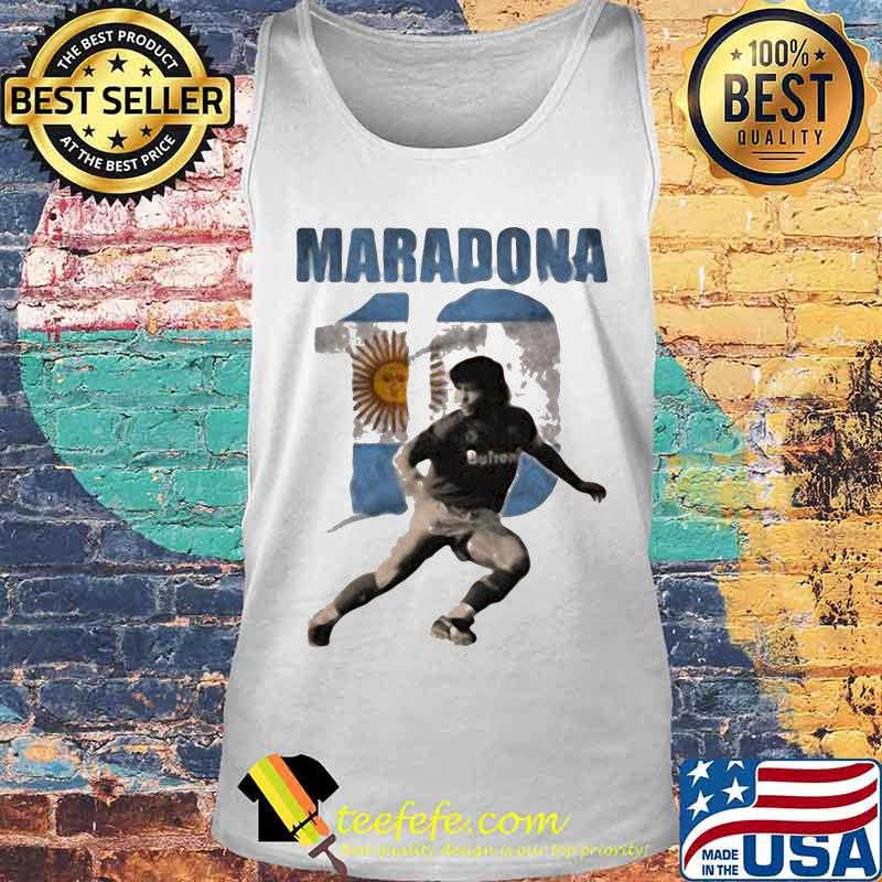 Maradona Legend Argentina Tee World Cup N10 Sun Shirt Tank top