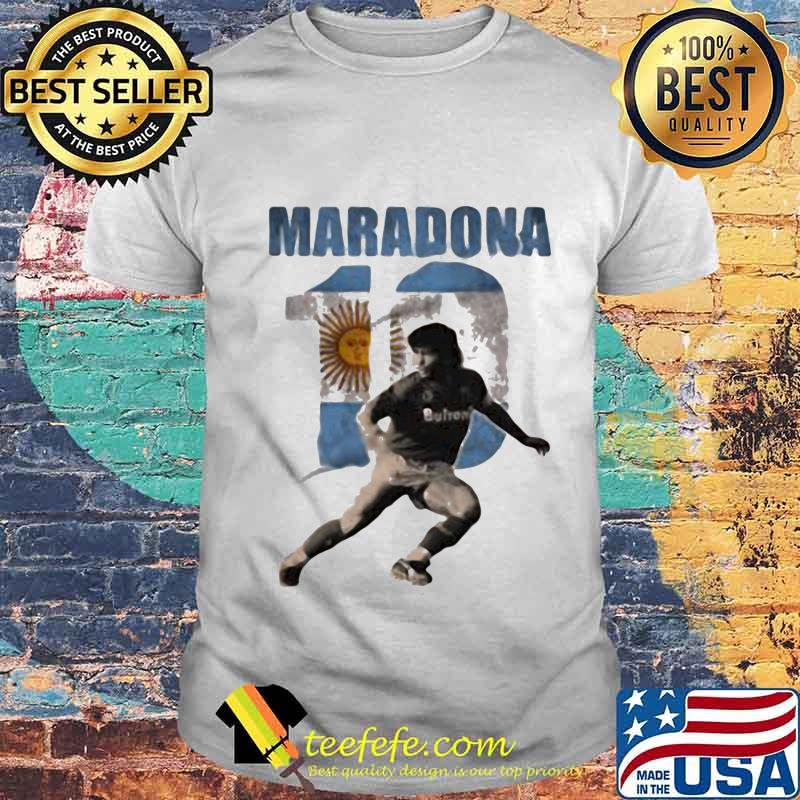 Maradona Legend Argentina Tee World Cup N10 Sun Shirt