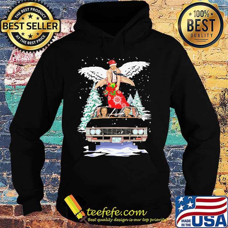 Merry christmas supernatural wings car s Hoodie