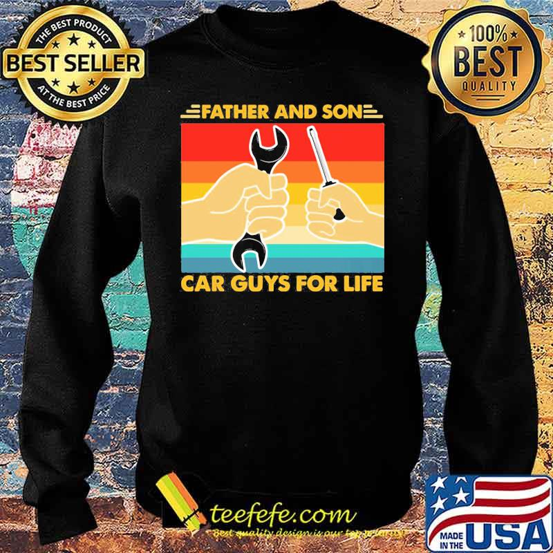 Official Father And Son Car Guys For Life Vintage Shirt Sweater
