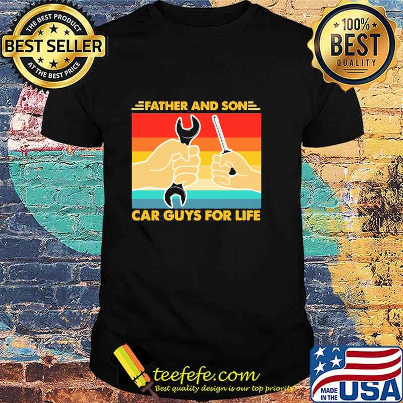 Official Father And Son Car Guys For Life Vintage Shirt