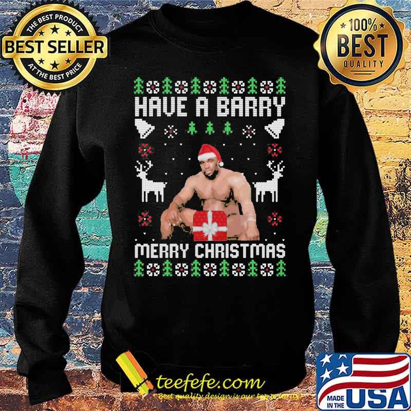 Official Have A Barry Merry Christmas Funny Barry Wood Meme Ugly Christmas Shirt Sweater