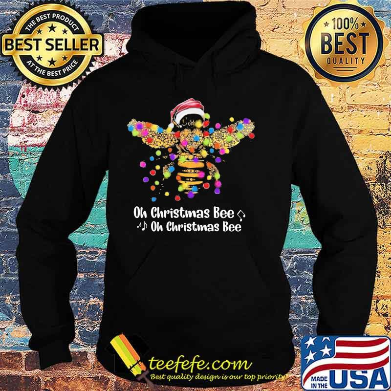 Official Santa Bee Oh Christmas Bee oh Christmas Bee Shirt Hoodie