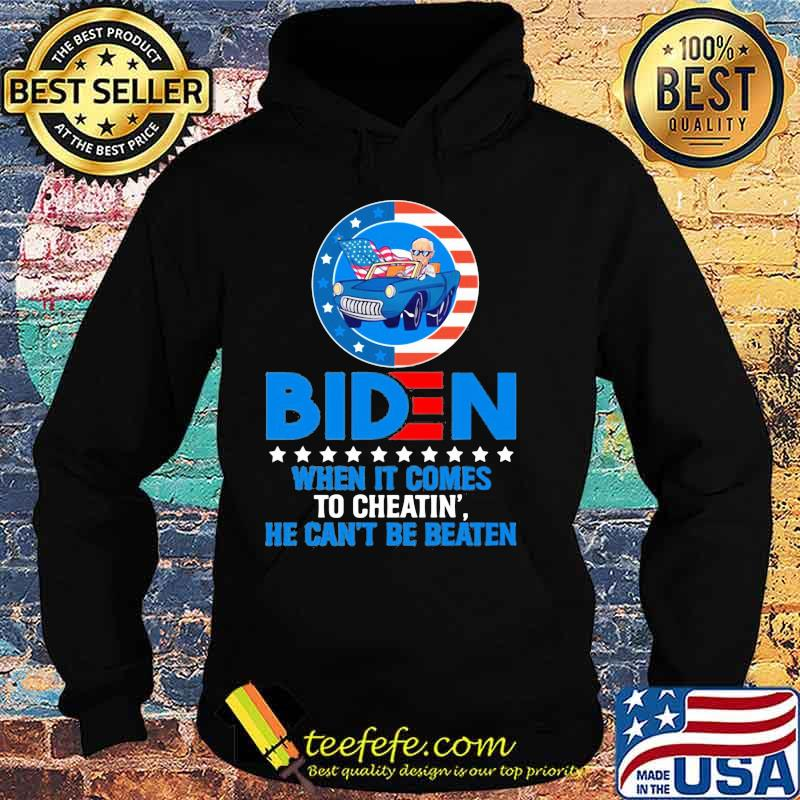 Official When It Comes to Cheating' He Can't Be Beaten Biden Harris Not My President Shirt Hoodie